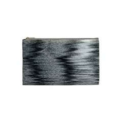 Rectangle Abstract Background Black And White In Rectangle Shape Cosmetic Bag (Small)