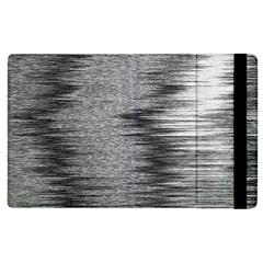 Rectangle Abstract Background Black And White In Rectangle Shape Apple Ipad 2 Flip Case by Nexatart