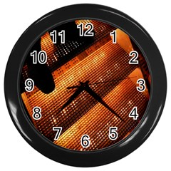 Magic Steps Stair With Light In The Dark Wall Clocks (black) by Nexatart