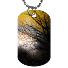 Tree Art Artistic Abstract Background Dog Tag (one Side) by Nexatart