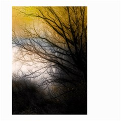 Tree Art Artistic Abstract Background Small Garden Flag (two Sides) by Nexatart