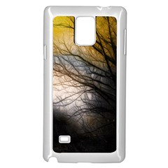 Tree Art Artistic Abstract Background Samsung Galaxy Note 4 Case (white) by Nexatart