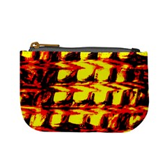 Yellow Seamless Abstract Brick Background Mini Coin Purses