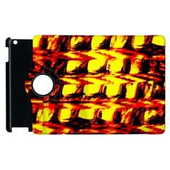 Yellow Seamless Abstract Brick Background Apple Ipad 2 Flip 360 Case by Nexatart