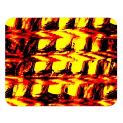 Yellow Seamless Abstract Brick Background Double Sided Flano Blanket (large)  by Nexatart