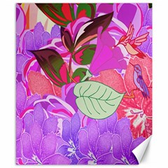 Abstract Design With Hummingbirds Canvas 8  X 10  by Nexatart