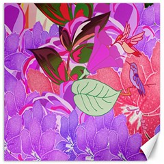 Abstract Design With Hummingbirds Canvas 12  X 12   by Nexatart