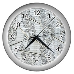 The Abstract Design On The Xuzhou Art Museum Wall Clocks (silver)  by Nexatart