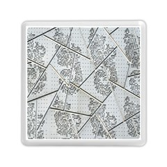 The Abstract Design On The Xuzhou Art Museum Memory Card Reader (square)  by Nexatart