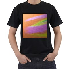 Metallic Brush Strokes Paint Abstract Texture Men s T Shirt (black) (two Sided) by Nexatart