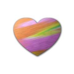 Metallic Brush Strokes Paint Abstract Texture Heart Coaster (4 Pack)  by Nexatart