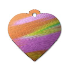 Metallic Brush Strokes Paint Abstract Texture Dog Tag Heart (one Side) by Nexatart
