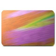 Metallic Brush Strokes Paint Abstract Texture Large Doormat  by Nexatart