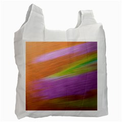 Metallic Brush Strokes Paint Abstract Texture Recycle Bag (one Side) by Nexatart