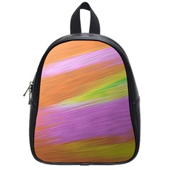 Metallic Brush Strokes Paint Abstract Texture School Bags (small)  by Nexatart