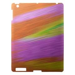 Metallic Brush Strokes Paint Abstract Texture Apple Ipad 3/4 Hardshell Case by Nexatart