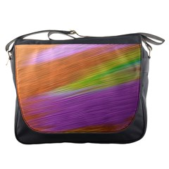 Metallic Brush Strokes Paint Abstract Texture Messenger Bags by Nexatart