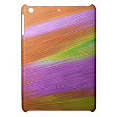 Metallic Brush Strokes Paint Abstract Texture Apple Ipad Mini Hardshell Case by Nexatart