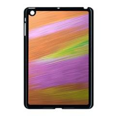 Metallic Brush Strokes Paint Abstract Texture Apple Ipad Mini Case (black) by Nexatart
