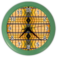 Light Steps Abstract Color Wall Clocks by Nexatart