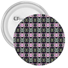 Colorful Pixelation Repeat Pattern 3  Buttons by Nexatart