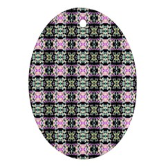 Colorful Pixelation Repeat Pattern Ornament (oval) by Nexatart