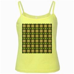 Colorful Pixelation Repeat Pattern Yellow Spaghetti Tank by Nexatart