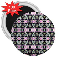 Colorful Pixelation Repeat Pattern 3  Magnets (100 Pack) by Nexatart