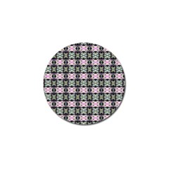 Colorful Pixelation Repeat Pattern Golf Ball Marker by Nexatart