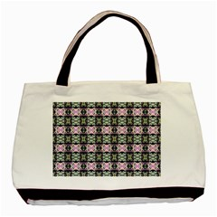 Colorful Pixelation Repeat Pattern Basic Tote Bag by Nexatart