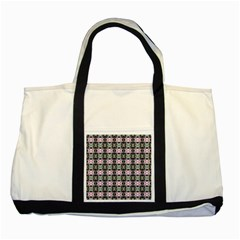 Colorful Pixelation Repeat Pattern Two Tone Tote Bag by Nexatart