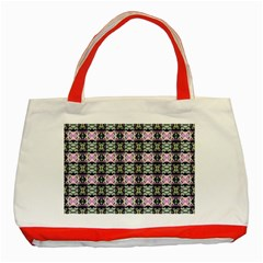 Colorful Pixelation Repeat Pattern Classic Tote Bag (red) by Nexatart