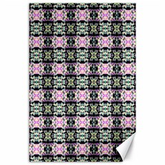 Colorful Pixelation Repeat Pattern Canvas 24  X 36  by Nexatart