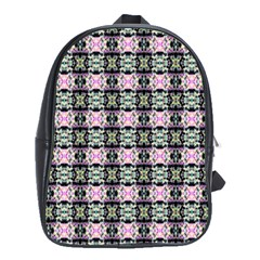 Colorful Pixelation Repeat Pattern School Bags(large)  by Nexatart