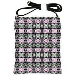Colorful Pixelation Repeat Pattern Shoulder Sling Bags by Nexatart