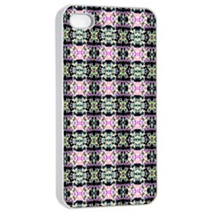 Colorful Pixelation Repeat Pattern Apple Iphone 4/4s Seamless Case (white) by Nexatart