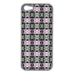 Colorful Pixelation Repeat Pattern Apple Iphone 5 Case (silver) by Nexatart