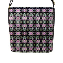 Colorful Pixelation Repeat Pattern Flap Messenger Bag (l)  by Nexatart