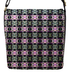 Colorful Pixelation Repeat Pattern Flap Messenger Bag (s) by Nexatart