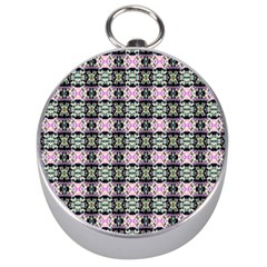 Colorful Pixelation Repeat Pattern Silver Compasses by Nexatart