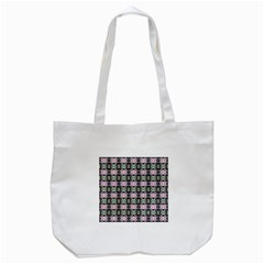 Colorful Pixelation Repeat Pattern Tote Bag (white) by Nexatart