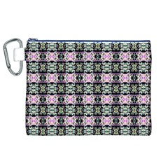 Colorful Pixelation Repeat Pattern Canvas Cosmetic Bag (xl) by Nexatart