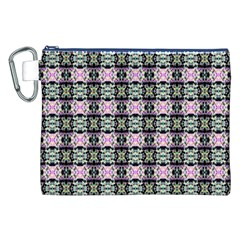 Colorful Pixelation Repeat Pattern Canvas Cosmetic Bag (xxl) by Nexatart