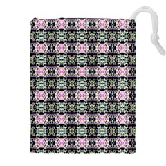 Colorful Pixelation Repeat Pattern Drawstring Pouches (xxl) by Nexatart