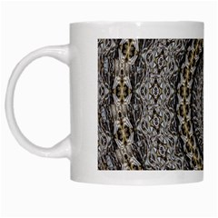 Celestial Pinwheel Of Pattern Texture And Abstract Shapes N Brown White Mugs by Nexatart