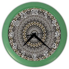 Celestial Pinwheel Of Pattern Texture And Abstract Shapes N Brown Color Wall Clocks by Nexatart