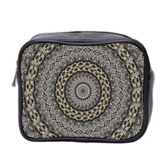 Celestial Pinwheel Of Pattern Texture And Abstract Shapes N Brown Mini Toiletries Bag 2 Side by Nexatart