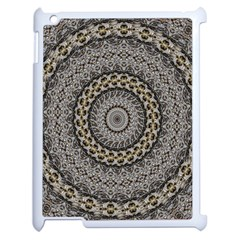 Celestial Pinwheel Of Pattern Texture And Abstract Shapes N Brown Apple Ipad 2 Case (white) by Nexatart