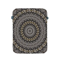 Celestial Pinwheel Of Pattern Texture And Abstract Shapes N Brown Apple Ipad 2/3/4 Protective Soft Cases by Nexatart