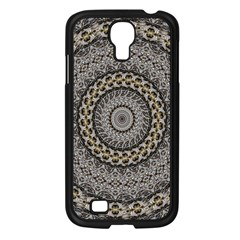 Celestial Pinwheel Of Pattern Texture And Abstract Shapes N Brown Samsung Galaxy S4 I9500/ I9505 Case (black) by Nexatart